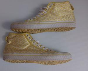 Women's Yellow High Top Adidas 8.5